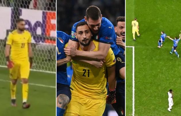 Gianluigi Donnarumma reveals why he did not celebrate after saving Bukayo Saka's crucial penalty in Euro 2020 final shootout - Bóng Đá