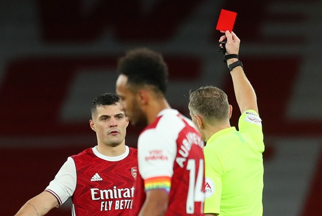 Arsenal have been given more red cards in the last 10 years than any other PL club - Bóng Đá