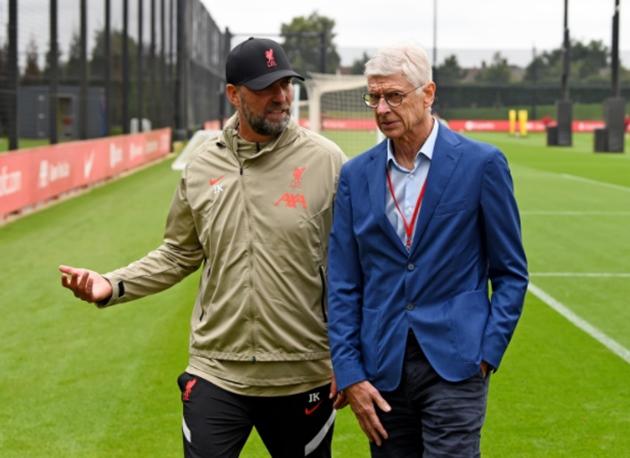 Klopp on Arsene Wenger's visit to the AXA Training Centre earlier this week.. - Bóng Đá