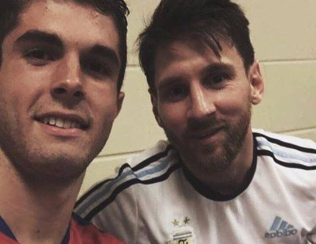 'I was too nervous to try and speak to him!' - USMNT star Pulisic recounts asking Messi for a selfie after game - Bóng Đá