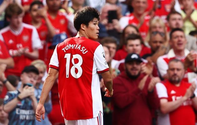 Arsenal boss Mikel Arteta explains why he took Takehiro Tomiyasu off against Norwich - Bóng Đá