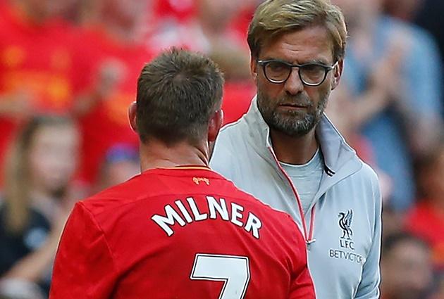 Jurgen Klopp sets record straight on James Milner 'fight' in Liverpool dressing room - Bóng Đá