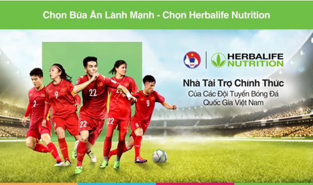 Lần đầu tiên Herbalife chính thức đồng hành cùng đội tuyển Bóng đá Việt Nam - Bóng Đá