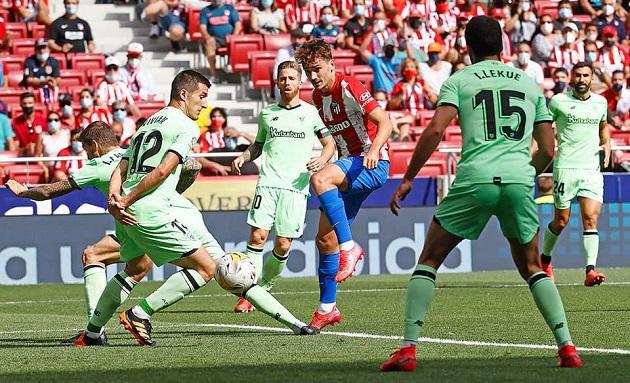 Tấm thẻ đỏ của Felix khiến Atletico chia điểm đầy tiếc nuối trước Bilbao - Bóng Đá