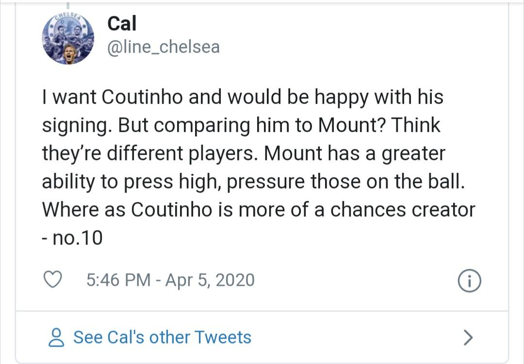 Chelsea fans react to coutinho - Bóng Đá