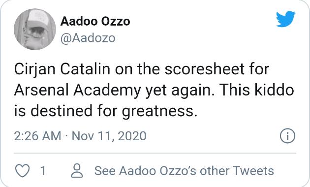Arsenal fans react to Catalin Cirjan's performance  - Bóng Đá