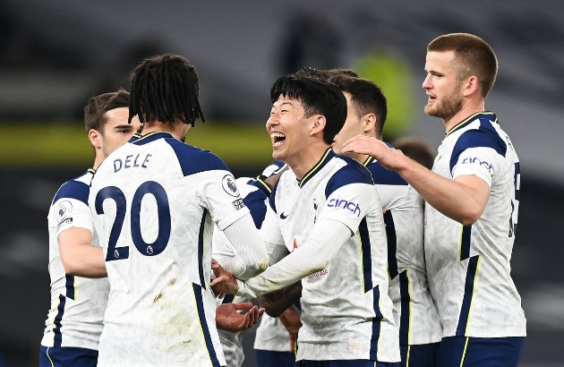 Son joined Harry Kane and Bruno Fernandes as three Premier League players both score and assist 10+ goals in the Premier League this season. - Bóng Đá
