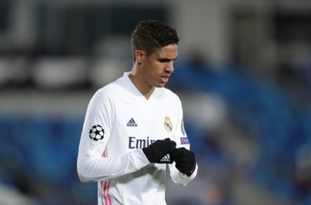 Real Madrid have slapped a £60m price tag on Varane and will dismiss Manchester United's opening offer of £40m - Bóng Đá