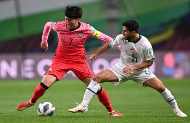 Son Heung-min mờ nhạt, Hàn Quốc mất điểm trước Iraq - Bóng Đá