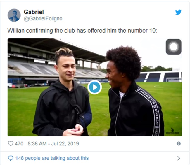 Willian to be given number 10 shirt at Chelsea after Eden Hazard's move to Real Madrid and fans are fuming - Bóng Đá