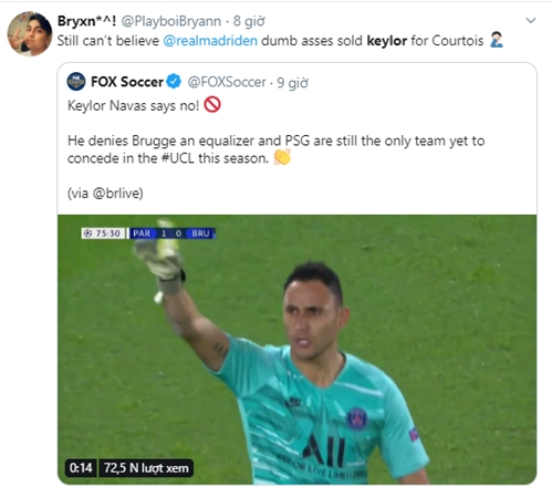 Navas được khen ngợi khi giúp PSG thắng trận - Bóng Đá
