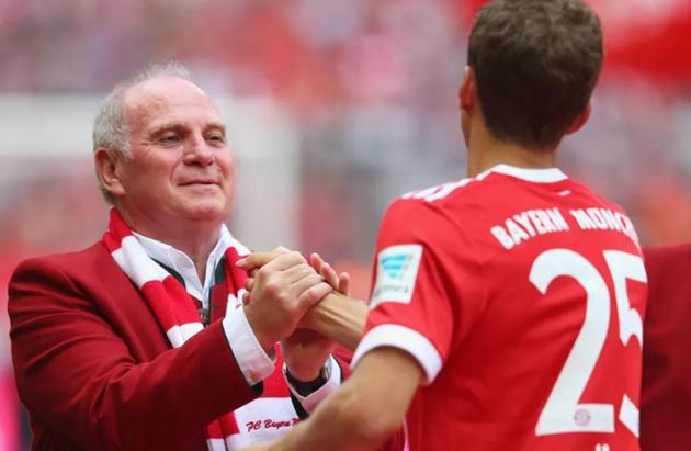 Report: Uli Hoeness vetoed Thomas Müller transfer from Bayern Munich - Bóng Đá