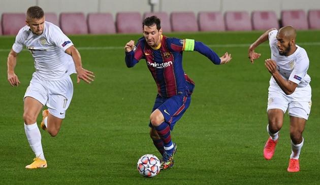 Lionel Messi: Barcelona star produces brilliant run before winning penalty vs Ferencvaros - Bóng Đá