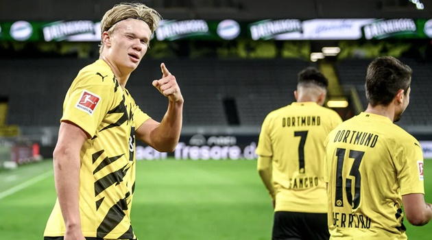 Borussia Dortmund's Erling Haaland: