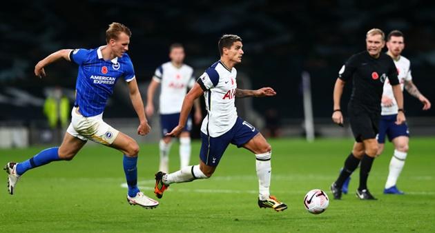 Tottenham supporters react as Erik Lamela impresses against Brighton - Bóng Đá