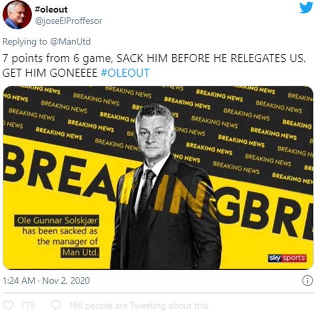 Manchester United fans want Ole Gunnar Solskjaer out after Arsenal defeat - Bóng Đá