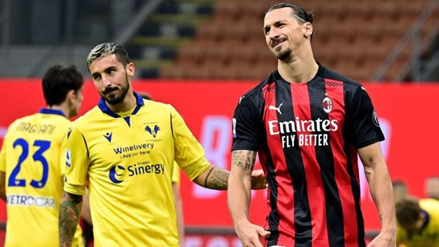 Ibrahimovic admits he'll give up penalty duties after costly miss against Hellas Verona - Bóng Đá