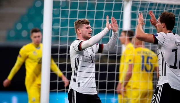 Timo Werner has now scored in each of his last five appearances for club and country: - Bóng Đá