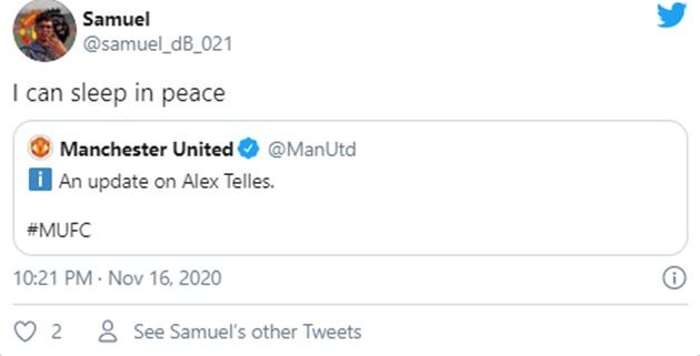 Manchester United: Fans react to Alex Telles update - Bóng Đá