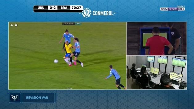 Cavani red card vs Brazil  - Bóng Đá