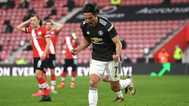 Cavani 'one of the best in the business' - Man Utd striker lauded by Neville after Southampton show - Bóng Đá
