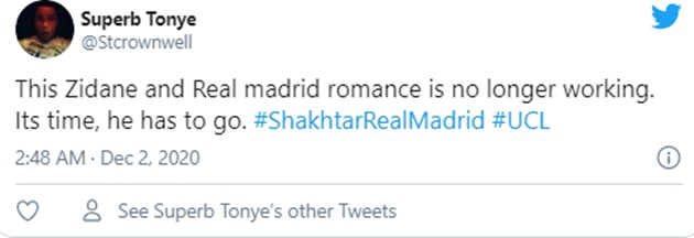 These Real Madrid fans react as loss to Shakhtar means Champions League qualification is in serious danger - Bóng Đá