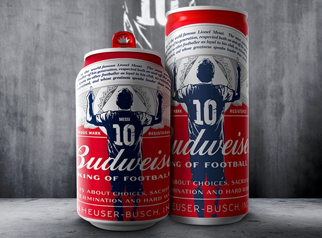 Budweiser celebrate Lionel Messi's record by sending special edition beers to ever keeper he scored against - Bóng Đá