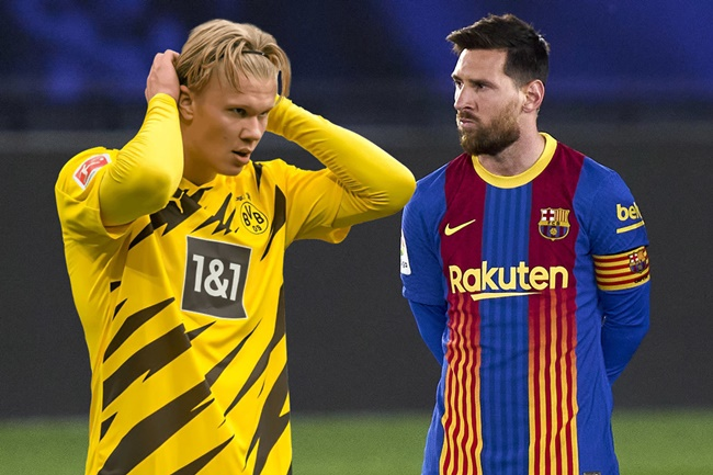 Barcelona ready to sacrifice Lionel Messi contract talks to beat Man Utd and Co to Erling Haaland transfer EXCLUSIVE - Bóng Đá
