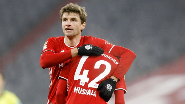 Jamal Musiala is seen at the club as a backup for Thomas Müller at the 10 position - Bóng Đá