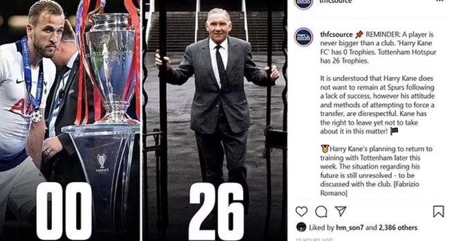 Son Heung-min likes a Tottenham fan's Instagram post telling Harry Kane - Bóng Đá
