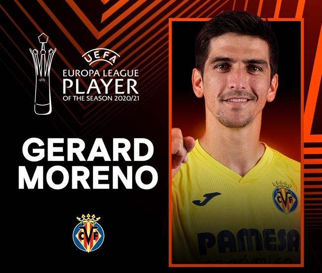 Gerard Moreno wins the 2020/21 UEFA Europa League Player of the Season award - Bóng Đá
