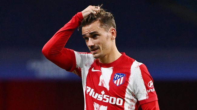 0 bàn, 0 cú sút trúng đích, 0 kiến tạo, ác mộng đeo bám Griezmann tại Atletico - Bóng Đá