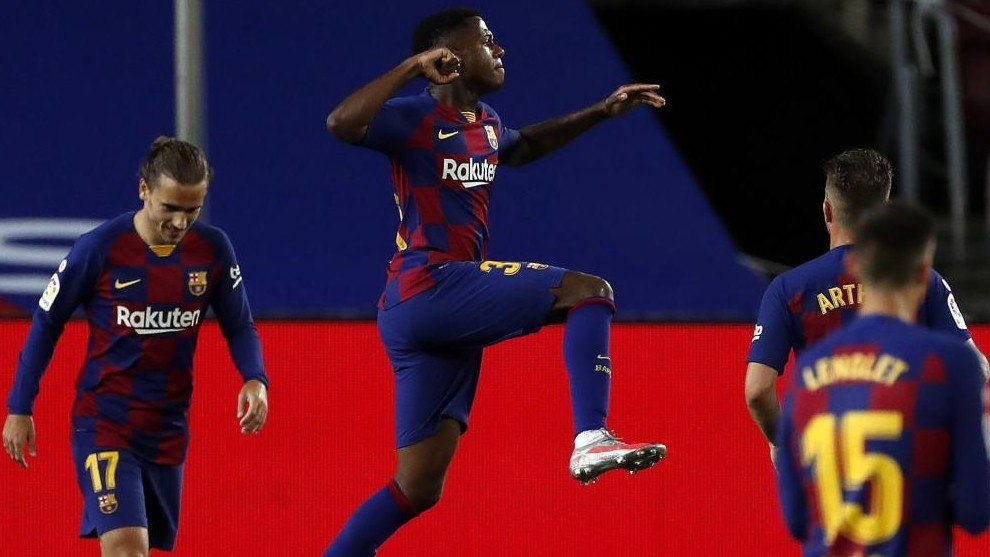 Ansu Fati once again opens the scoring for Barcelona - Bóng Đá
