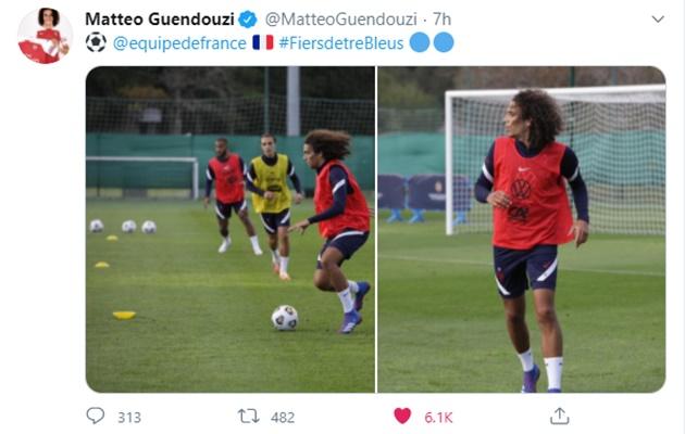 Matteo Guendouzi breaks three-month silence after Mikel Arteta hints at transfer u-turn - Bóng Đá