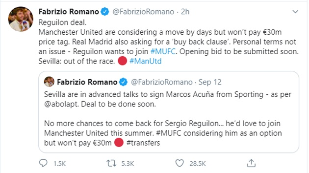 Two reliable sources say Man United about to bid for Sergio Reguilon - Bóng Đá