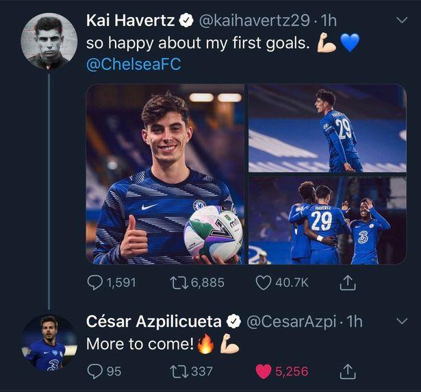 Kai Havertz set challenge by Chelsea captain Cesar Azpilicueta after Carabao Cup hat-trick - Bóng Đá