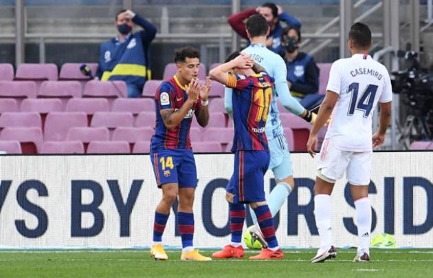 TRỰC TIẾP Barcelona 1-1 Real Madrid: Barca liên tục tấn công - Bóng Đá