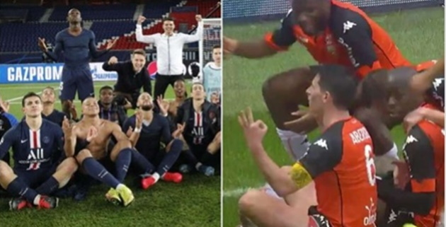 PSG mocked by Lorient with Erling Haaland 'meditation' celebration - Bóng Đá