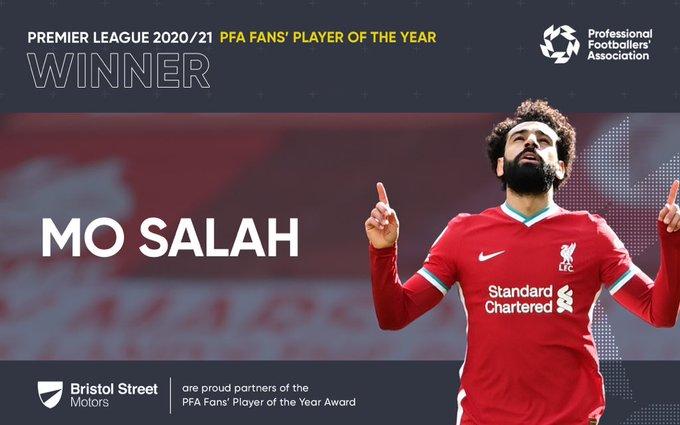 Mohamed Salah wins PFA Fans' Player of the Year award - Bóng Đá