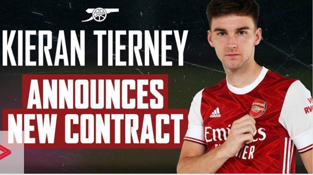 Kieran Tierney signs new Arsenal contract until 2026 - Bóng Đá