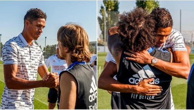 Manchester United new boy Raphael Varane bids farewell to Real Madrid teammates in emotional scenes - Bóng Đá