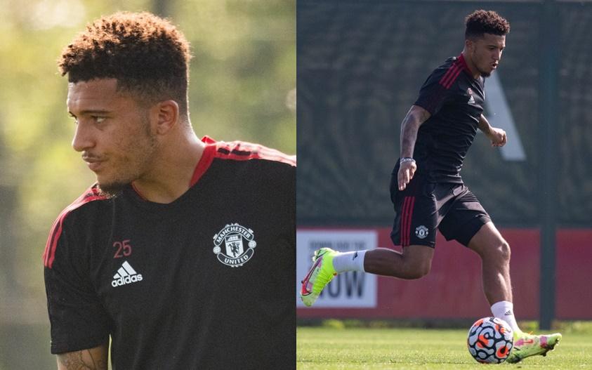 Jadon Sancho returns to Manchester United training after England injury - Bóng Đá