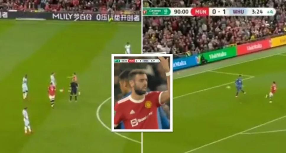 Bruno Fernandes: Man United star tried to score very cheeky late equaliser vs West Ham - Bóng Đá