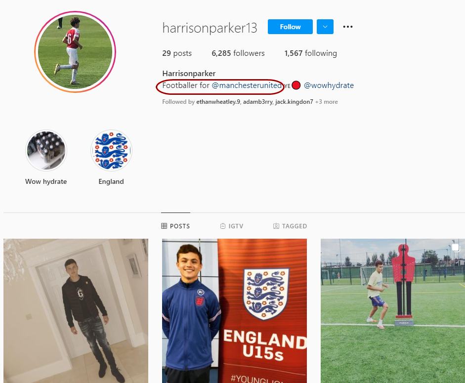 Teenager Parker appears to confirm United academy switch on Instagram - Bóng Đá