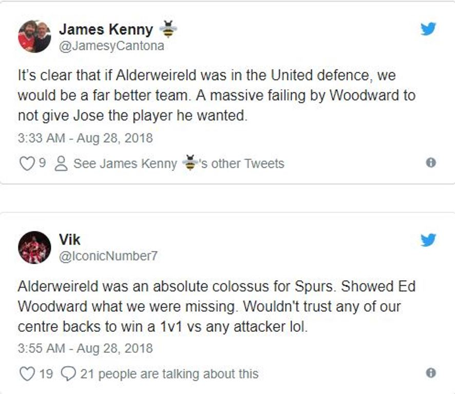 Alderweireld chơi quá hay, Ed Woodward đáng bị chỉ trích - Bóng Đá