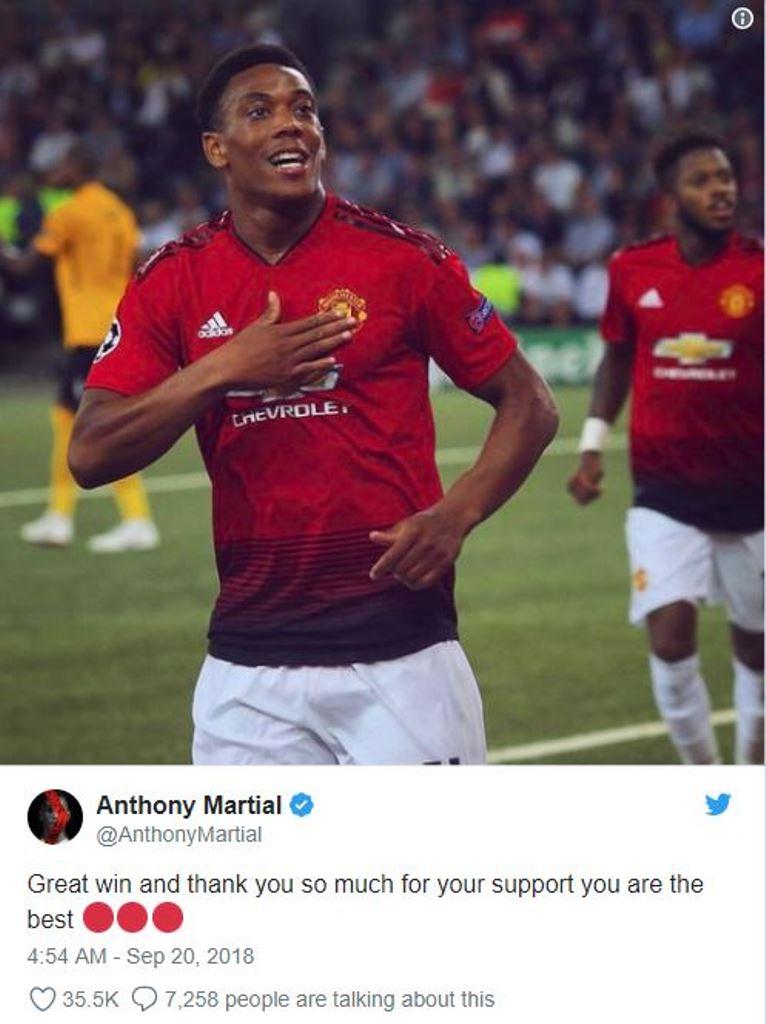 Martial khiến người hâm mộ Man Utd ấm lòng - Bóng Đá