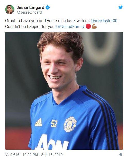 Man Utd youngster makes training return after cancer treatment - Bóng Đá