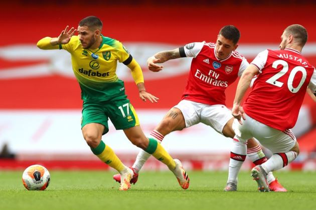Arsenal transfer stance on signing Norwich City midfielder Emi Buendia in January - Bóng Đá