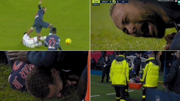 The crazy challenge that caused Neymar to leave Lyon match on a stretcher - Bóng Đá