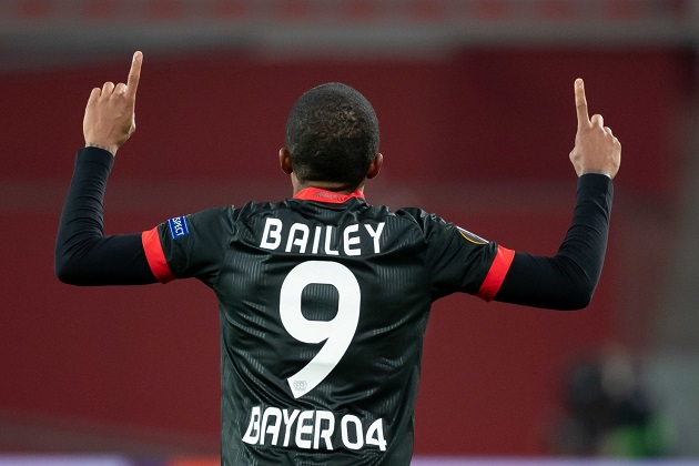 WOW Manchester United target Leon Bailey nets sensational goal for Bayer Leverkusen from tight angle – but did he mean it? - Bóng Đá